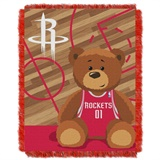 "Houston Rockets NBA ""Half-Court"" Baby Woven Jacquard Throw"