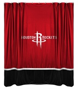 Houston Rockets Sidelines Shower Curtain