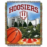 "Indiana Hoosiers NCAA ""Home Field Advantage"" Woven Tapestry Throw"