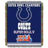 "Indianapolis Colts NFL ""Commemorative"" Woven Tapestry Throw"
