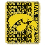 "Iowa Hawkeyes NCAA ""Double Play"" Woven Jacquard Throw"