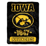 "Iowa  Hawkeyes NCAA ""Varsity"" Micro Raschel Throw"