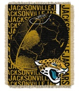"Jacksonville Jaguars NFL ""Double Play"" Woven Jacquard Throw"