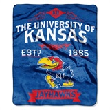 "Kansas Jayhawks ""Label"" Raschel Throw"