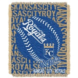 "Kansas City Royals MLB ""Double Play"" Woven Jacquard Throw"