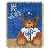 "Kansas City Royals MLB ""Field Bear"" Baby Woven Jacquard Throw"