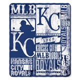 "Kansas City Royals MLB ""Strength"" Fleece Throw"