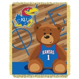 "Kansas  Jayhawks NCAA ""Fullback"" Baby Woven Jacquard Throw"
