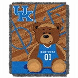 "Kentucky  Wildcats NCAA ""Fullback"" Baby Woven Jacquard Throw"
