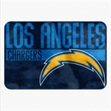 "Los Angeles Chargers NFL ""Worn Out"" Bath Mat"