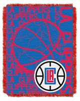 "Los Angeles Clippers NBA ""Double Play"" Woven Jacquard Throw"