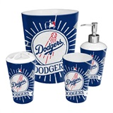 Los Angeles Dodgers MLB 4 piece Bath Set