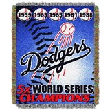"Los Angeles Dodgers MLB ""Commemorative Woven Tapestry Throw"