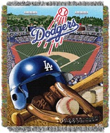 "Los Angeles Dodgers MLB ""Home Field Advantage"" Woven Tapestry Throw"