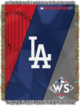 "Los Angeles Dodgers ""NL Champs"" Bounty Commemorative Woven Tapestry Th"