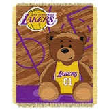"Los Angeles Lakers NBA ""Half-Court"" Baby Woven Jacquard Throw"