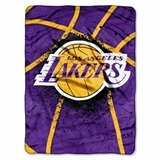 "Los Angeles Lakers NBA ""Shadow Play"" Raschel Throw"