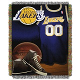 "Los Angeles Lakers NBA ""Vintage"" Woven Tapestry Throw"