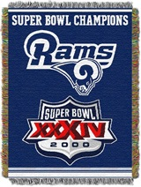 "Los Angeles Rams NFL ""Commemorative"" Woven Tapestry Throw"