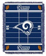 "Los Angeles Rams NFL ""Field"" Baby Woven Jacquard Throw"