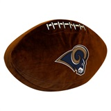 Los Angeles Rams NFL  Football Shaped 3D Plush Pillow