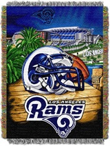 "Los Angeles Rams NFL ""Home Field Advantage"" Woven Tapestry Throw"