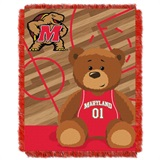 "Maryland  Terrapins NCAA ""Fullback"" Baby Woven Jacquard Throw"