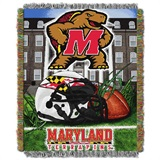 "Maryland Terrapins NCAA ""Home Field Advantage"" Woven Tapestry Throw"