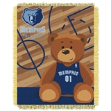 "Memphis Grizzles NBA ""Half-Court"" Baby Woven Jacquard Throw"