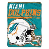 "Miami Dolphins NFL ""40 yard Dash"" Micro Raschel Throw"