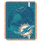 "Miami Dolphins NFL ""Double Play"" Woven Jaquard Throw"