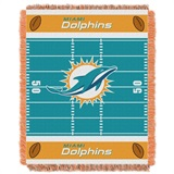 "Miami Dolphins NFL ""Field"" Baby Woven Jacquard Throw"