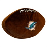 Miami Dolphins NFL  Football Shaped 3D Plush Pillow