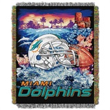 "Miami Dolphins NFL ""Home Field Advantage"" Woven Tapestry Throw"