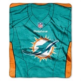 "Miami Dolphins NFL ""Jersey"" Raschel Throw"