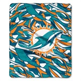 "Miami Dolphins NFL ""Quicksnap"" Raschel Throw"