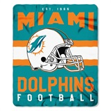 "Miami Dolphins NFL ""Singular"" Fleece Throw"