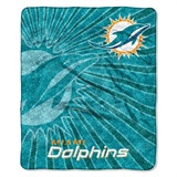 "Miami Dolphins NFL ""Strobe"" Sherpa Throw"