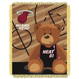 "Miami Heat NBA ""Half-Court"" Baby Woven Jacquard Throw"