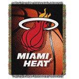"Miami Heat NBA ""Photo Real"" Woven Tapestry Throw"