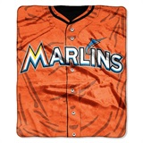 "Miami Marlins MLB ""Jersey"" Raschel Throw"