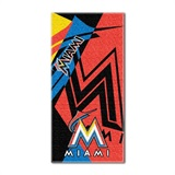 "Miami Marlins MLB ""Puzzle"" Beach Towel"