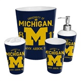 Michigan Wolverines NCAA 4-Piece Bath Set