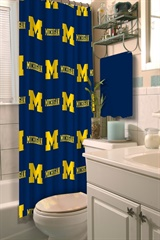 Michigan Wolverines NCAA Shower Curtain