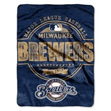 "Milwaukee Brewers MLB ""Structure"" Micro Raschel Throw"