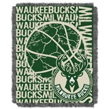 "Milwaukee Bucks NBA ""Double Play"" Woven Jacquard Throw"