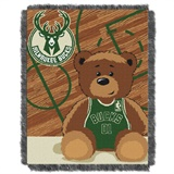 "Milwaukee Bucks NBA ""Half-Court"" Baby Woven Jacquard Throw"