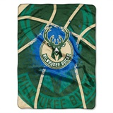 "Milwaukee Bucks NBA ""Shadow Play"" Raschel Throw"