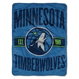 "Minnesota Timberwolves NBA ""Clear Out"" Micro Raschel Throw"
