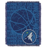"Minnesota Timberwolves NBA ""Double Play"" Woven Jacquard Throw"